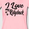Ridgeback dog mom pet dogs mom gift - Women's Premium T-Shirt