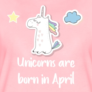 Unicorns are born in April - Frauen Premium T-Shirt