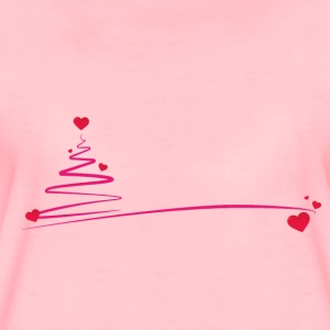 Christmas tree with hearts - Women's Premium T-Shirt