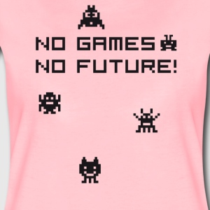 No games no future Nerd 8bit pc geek tetris Play l - Women's Premium T-Shirt