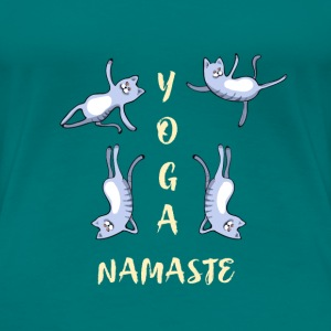 Cat yoga Namaste exercice sport cool humour sport lo