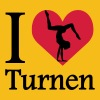 I love Turnen / I heart Turnen - Frauen Premium T-Shirt