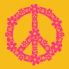PEACE SYMBOL - fred symbolen, c, symbol of freedom, flower power, hippie, 68er movement, Woodstock - Premium-T-shirt dam