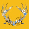 Deer antlers with gentian and edelweiss - Women's Premium T-Shirt