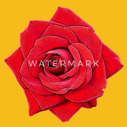 Rose Rot Cartoon Rote Blüte Blume Frauen Premium T Shirt Spreadshirt