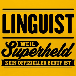 Superheld Linguist - Frauen Premium T-Shirt