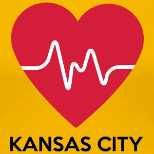 Heart Kansas City - Premium-T-shirt dam