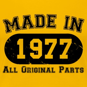 Made in 1977 All Original Parts 40th Birthday - Women's Premium T-Shirt
