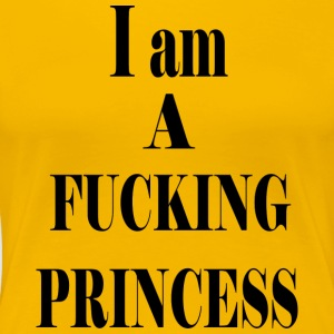 FUCK PRINCESS BLACK - Premium-T-shirt dam