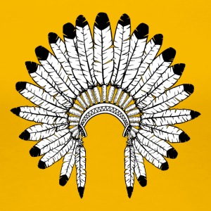 Warbonnet - Indian headdress - Women's Premium T-Shirt