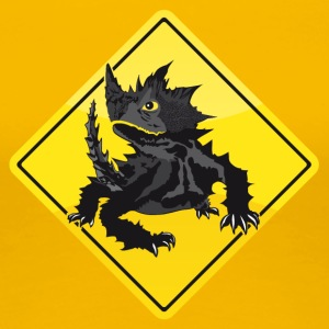 Australien Road Sign Thorny Devil - Dame premium T-shirt