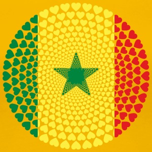 Senegal Sénégal Love HEART Mandala - Women's Premium T-Shirt