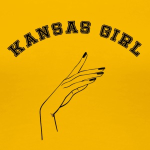 Kansas girl - Women's Premium T-Shirt