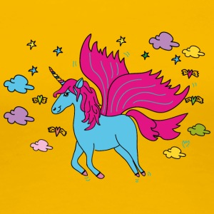 Flying Unicorn - Women's Premium T-Shirt