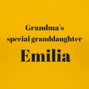 Grandma s special granddaughter Emilia - Frauen Premium T-Shirt
