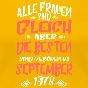 September 1978 - Frauen Premium T-Shirt