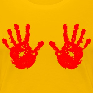 Handprint red - Women's Premium T-Shirt