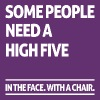 Some people need a high five (dark) - Women's Premium T-Shirt