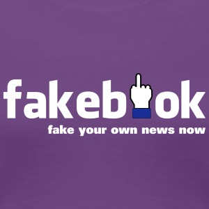 fakebook - Women's Premium T-Shirt