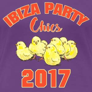 IBIZA PARTY CHICS DAMEN FRAUEN MÄDELS SHIRT 2017 - Frauen Premium T-Shirt