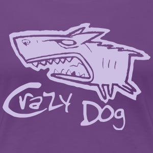 crazy dog - Women's Premium T-Shirt