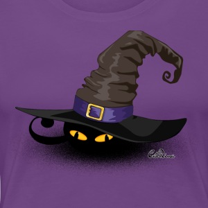 Cat in a Hat - Frauen Premium T-Shirt