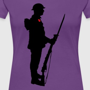Remembrance Day Soldier WW1 - Women's Premium T-Shirt