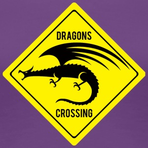 Fantasy / Dragon: Dragons Crossing - Vrouwen Premium T-shirt