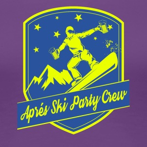 Apps Ski Party Crew - Vrouwen Premium T-shirt
