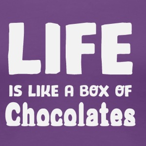 Life is like a box of chocolates - Women's Premium T-Shirt