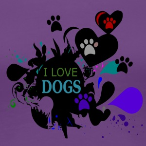 I love Dogs - Dog Love - Women's Premium T-Shirt