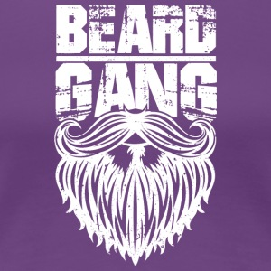 beard gang white - Frauen Premium T-Shirt