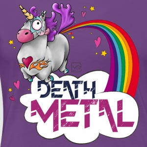 Death Metal Unicorn - Dame premium T-shirt