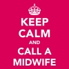 Keep Calm and Call A Midwife - Dame premium T-shirt
