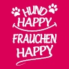 Hund Happy Frauchen Happy - Frauen Premium T-Shirt