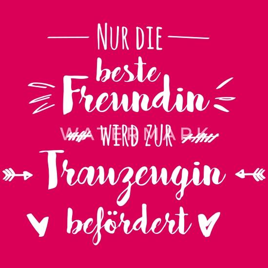 Trauzeugin Beste Freundin Hochzeit Geschenk Frauen Premium T Shirt Dunkles Pink
