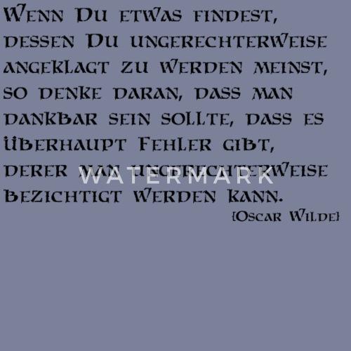 Zitat von Oscar Wilde von Michael Sonntag | Spreadshirt