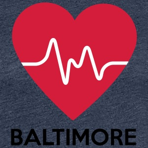 heart Baltimore - Women's Premium T-Shirt