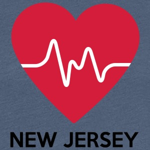 Heart New Jersey - Women's Premium T-Shirt