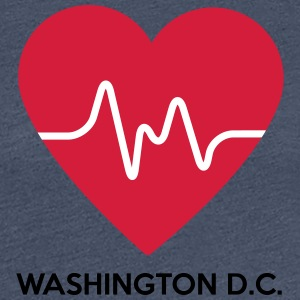 Heart Washington DC - Dame premium T-shirt