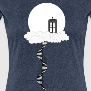 Tardis on clouds - Women's Premium T-Shirt