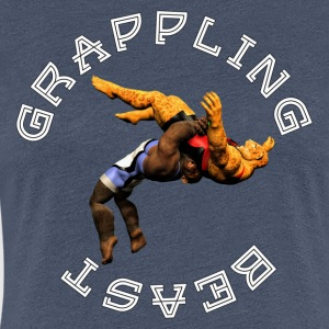Grappling Beast (ape vs jaguar) - T-shirt Premium Femme