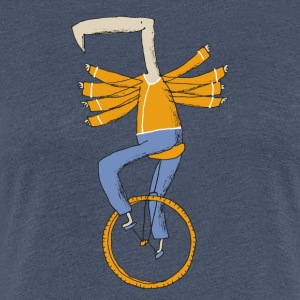 unicycle bird colour - Vrouwen Premium T-shirt