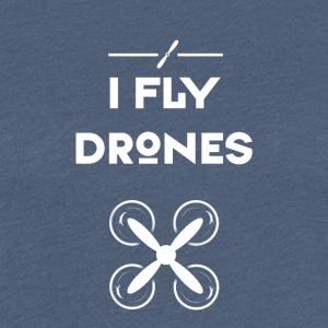 drone flyve Quadrocopter pilot air flyvning propel - Dame premium T-shirt