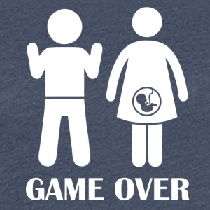 GAME OVER Pregnant - Women's Premium T-Shirt