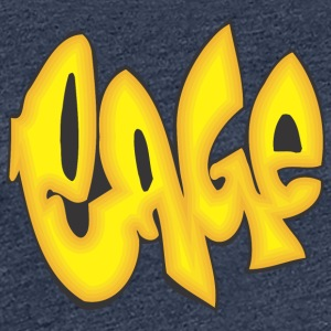 cage graffiti - Women's Premium T-Shirt