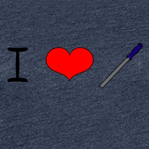 I Love Files - Women's Premium T-Shirt