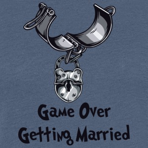 Game Over Getting Married - T-shirt Premium Femme