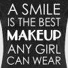 A smile is the best makeup any girl can wear - Women's Premium T-Shirt