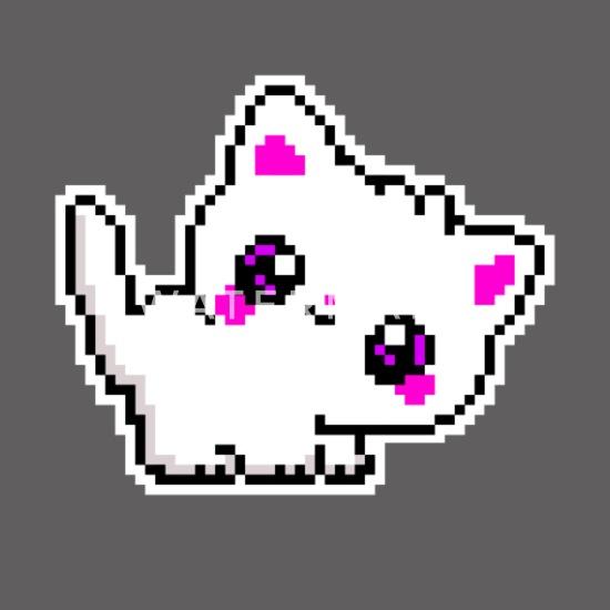 Petit Chaton Doux Chat Pixel Pixel Art T Shirt Premium Femme